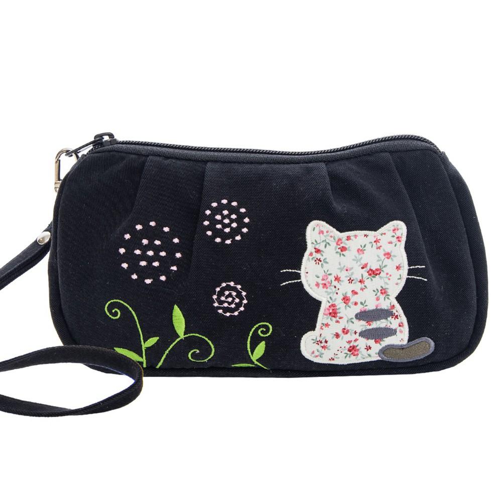 【Kiro貓】背影貓 拉鍊 化妝包/盥洗包/小物收納包【820224】