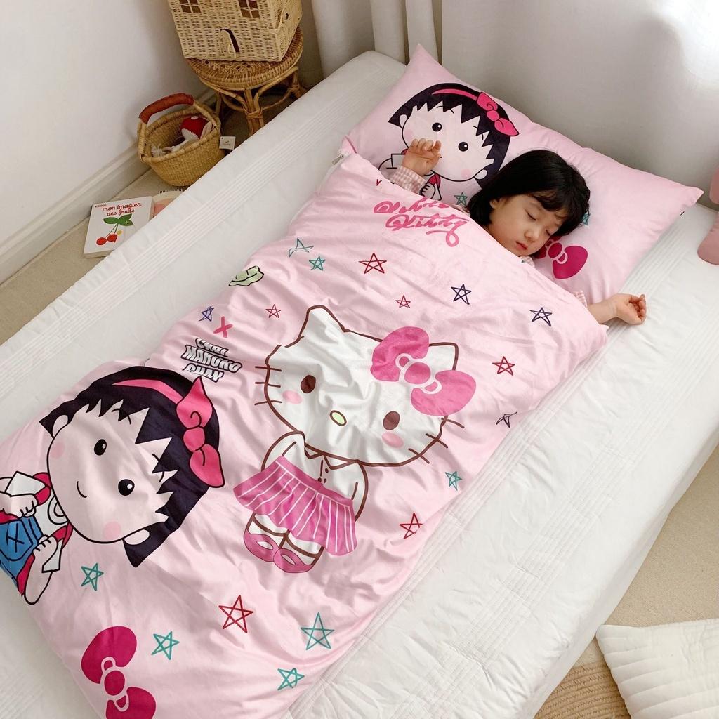 儿童睡袋嬰兒睡袋防踢被卡通機器貓哆啦A夢兒童加厚被子秋冬寶寶絨純棉被