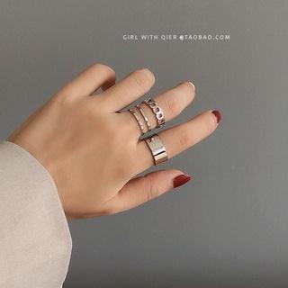 Bene 戒指套裝 3Pcs 簡約韓國時尚戒指女女孩時尚珠寶禮物嘻哈銀戒指 Cincin 禮物