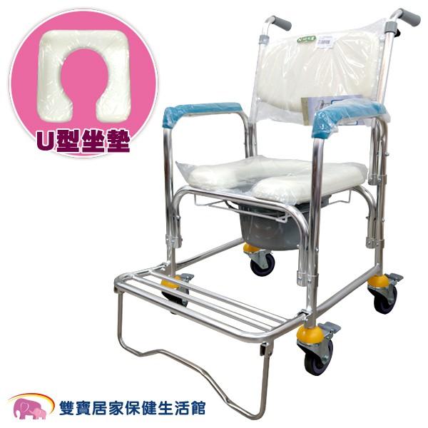 【免運】光星 四輪鋁製洗澡便器椅CS-012B 馬桶椅 洗澡椅 CS012B 洗澡馬桶椅 鋁合金馬桶椅 便盆椅