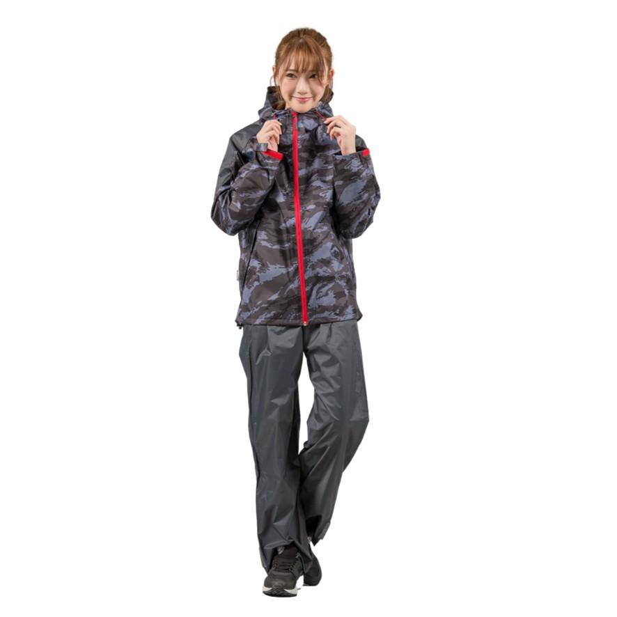 Outperform 奧德蒙 城市遊俠背包款兩截式風雨衣 灰迷彩 雨衣 兩件式雨衣《淘帽屋》