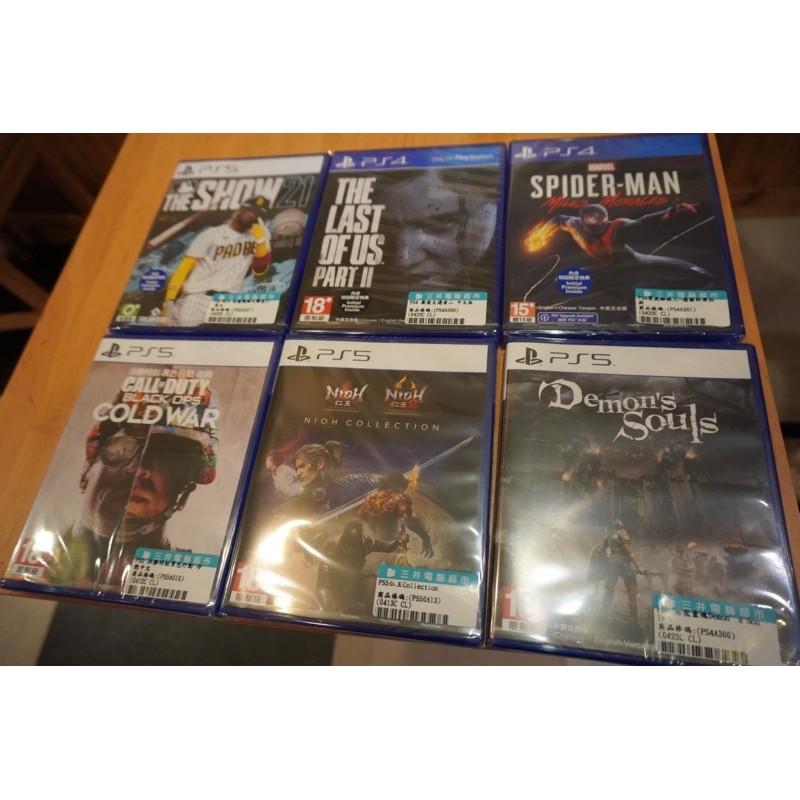 全新未拆 現貨 ps5 ps4遊戲光碟 漫威蜘蛛人 最後生還者