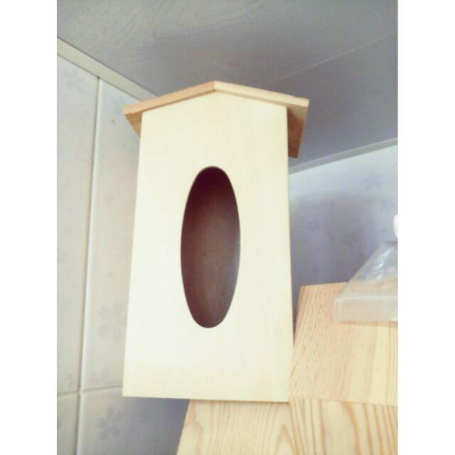 (直立式)出清可掛式面紙盒 木製面紙盒