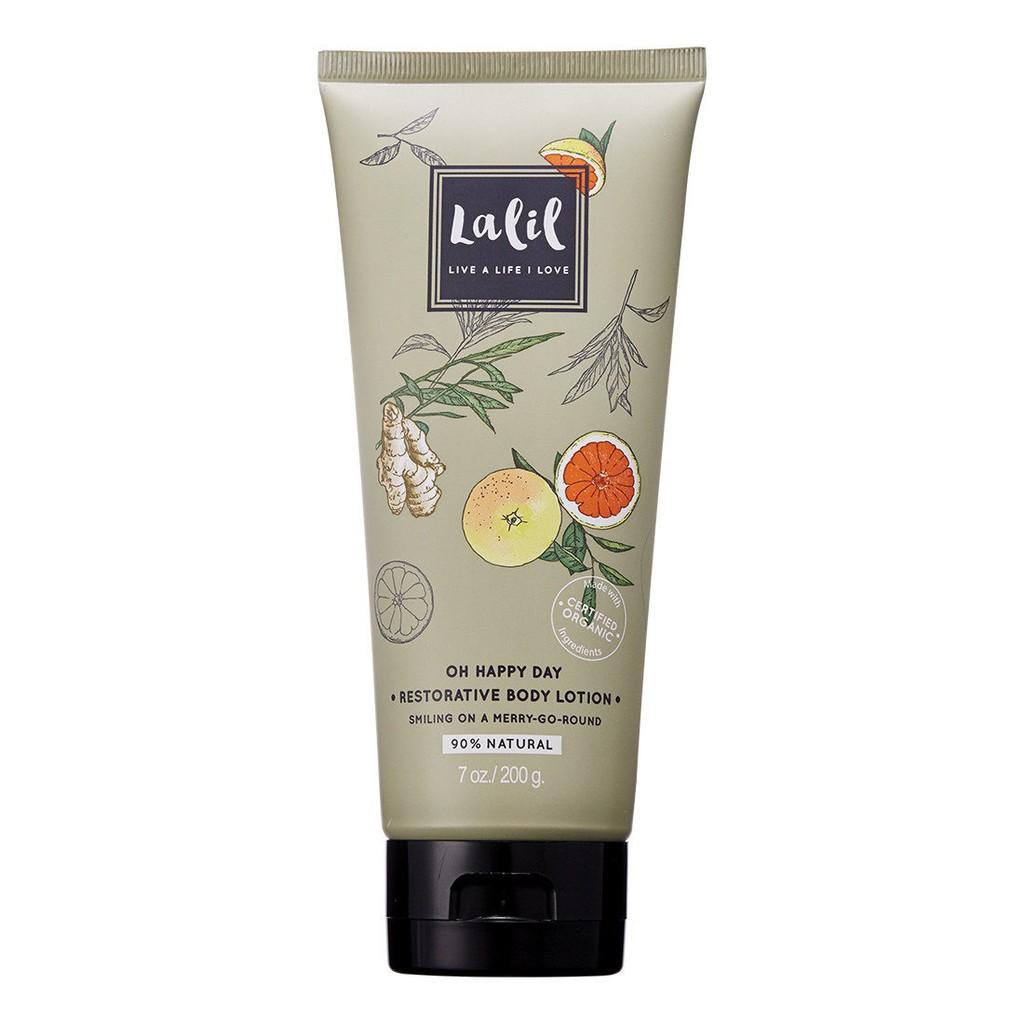【LALIL 樂靈】 樂享生活身體潤膚乳(生薑和葡萄柚植萃精油香氛) 200g