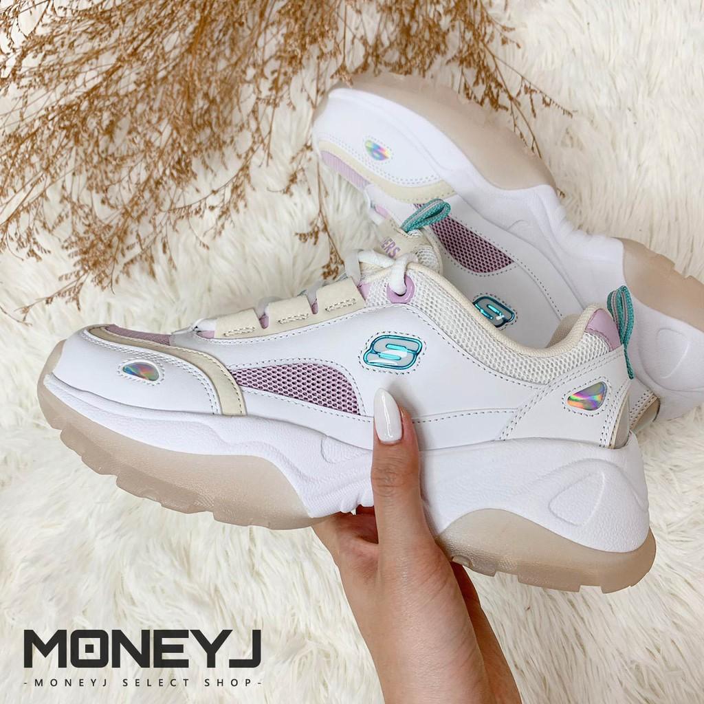 【MONEY J】Skechers D'Lites 果凍系列 運動女鞋 奶茶 粉 老爹鞋 88888407WLV