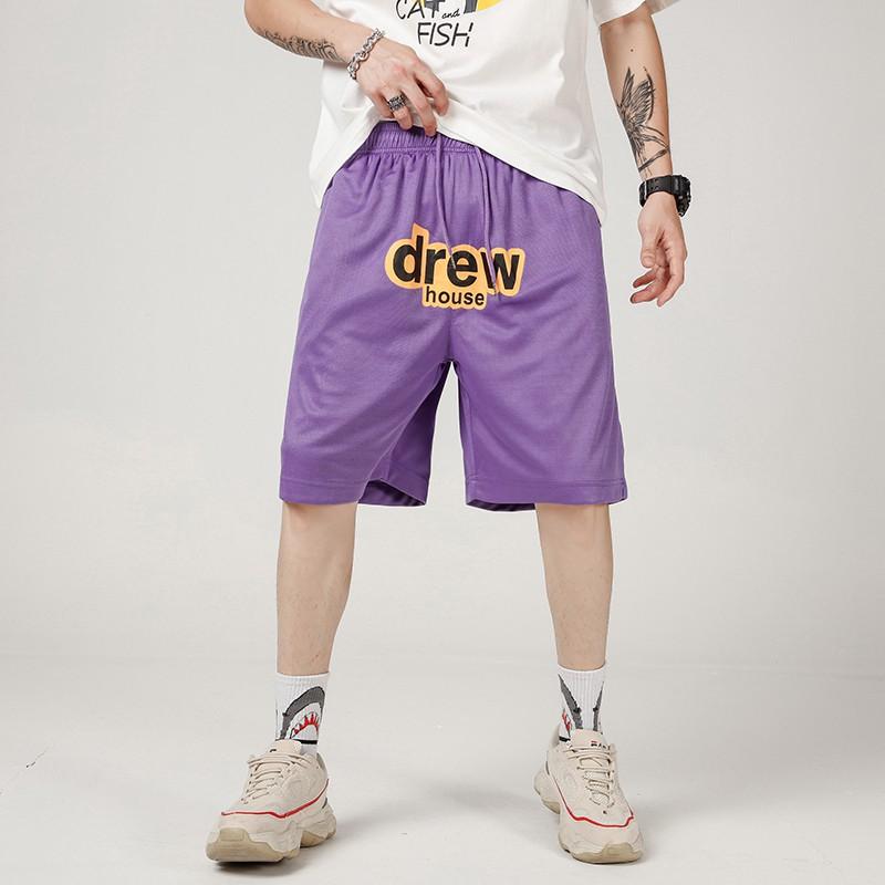 DREW HOUSE短褲 DREW HOUSE休閒短褲 DREW情侶短褲 運動短褲 簡約百搭棉短褲 鬆緊繩