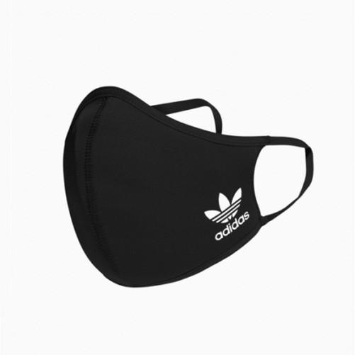 ADIDAS 口罩 三入裝 男/女 非醫療 彈力繞耳設計 黑色 HB7851