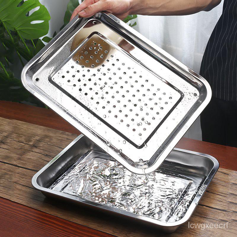 304不銹鋼茶盤瀝水盤功夫茶具小茶台長方形儲水茶海茶托盤蒸盤 gcDz