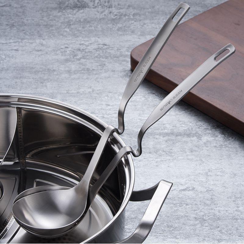 304不鏽鋼掛壁勺創意掛壁火鍋湯勺漏勺加厚麻辣燙撈勺盛粥勺