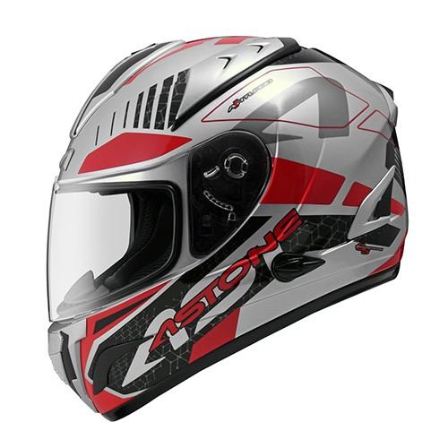 【ASTONE】GTB600 II71 (銀/紅) 全罩式安全帽 內藏墨鏡