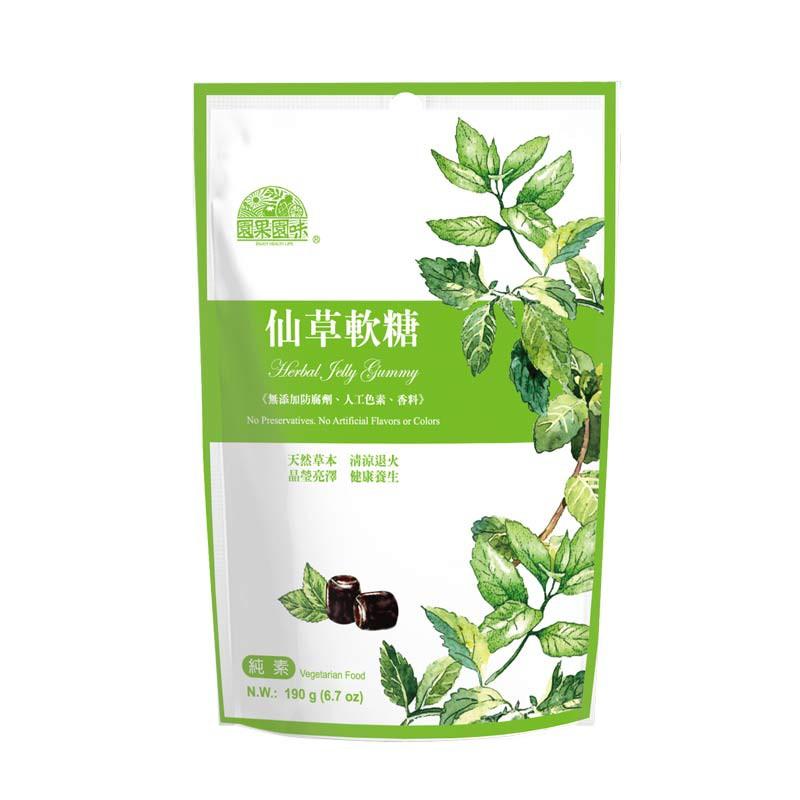 園果園味-仙草軟糖 190g