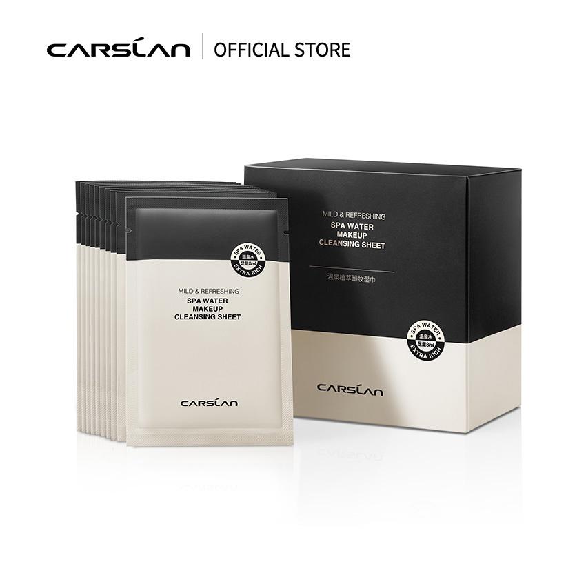 Carslan 卡姿蘭 溫泉植萃卸妝濕巾 便攜溫和卸妝30片裝