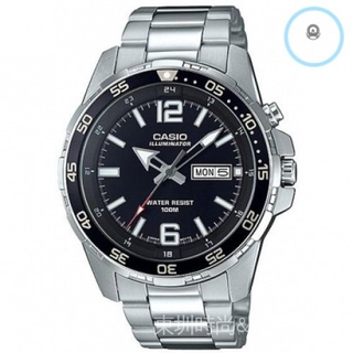 CASIO 卡西歐  不銹鋼錶帶 商務腕錶 休閑腕錶 防水100米 MTD-1079D-1A2 桃園市