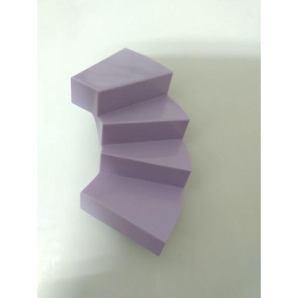 lego 樂高 28466 41314 粉紫色 薰衣草紫色 轉角 樓梯 旋轉 樓梯