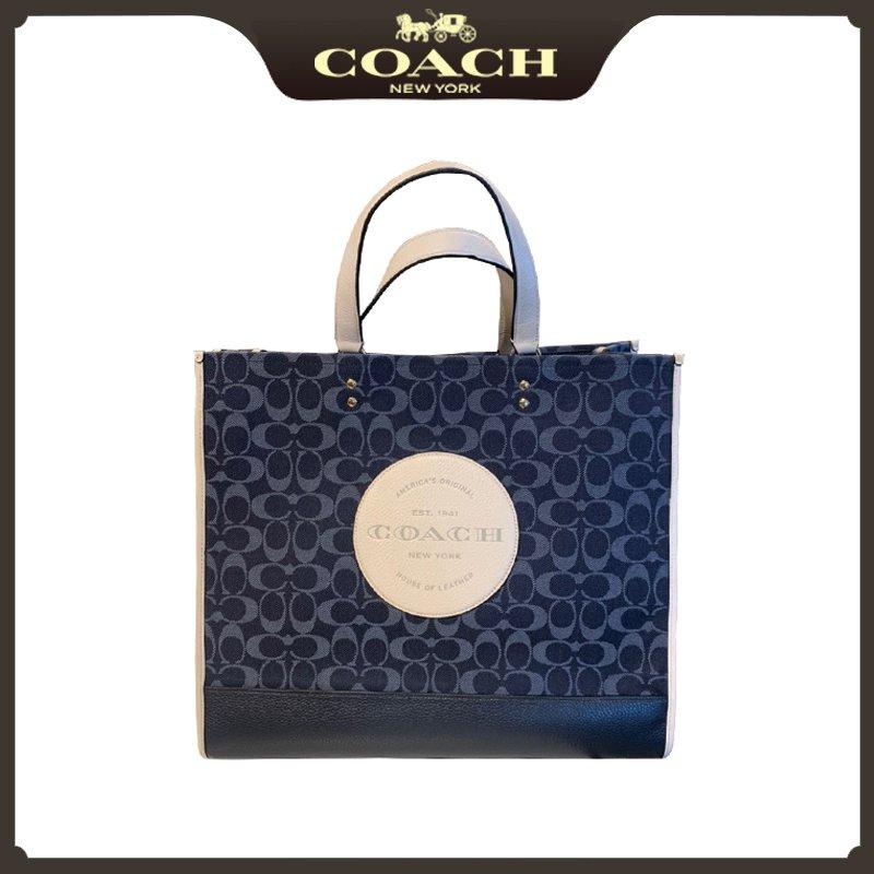 正品代購COACH/蔻馳女包牛仔帆布購物袋錢包手提單肩斜挎包托特包