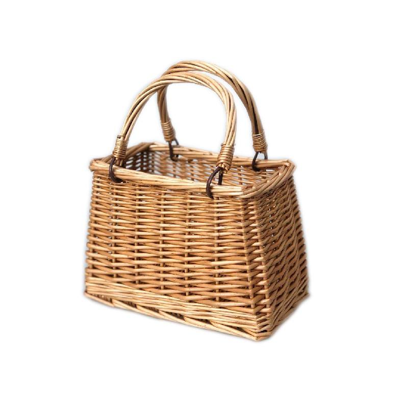 草編包 Z 新品手提包夏天海邊度假ins藤編包包女斜跨百搭時尚簡約 編織盒子包