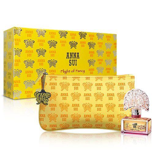 Anna Sui 安娜蘇 逐夢翎雀蝴蝶禮盒(淡香水30ml+化妝包)-送品牌紙袋