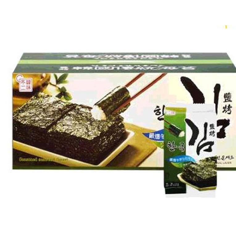 HANWHA 韓國鹽烤海苔禮盒 每盒36入共180公克 C98701