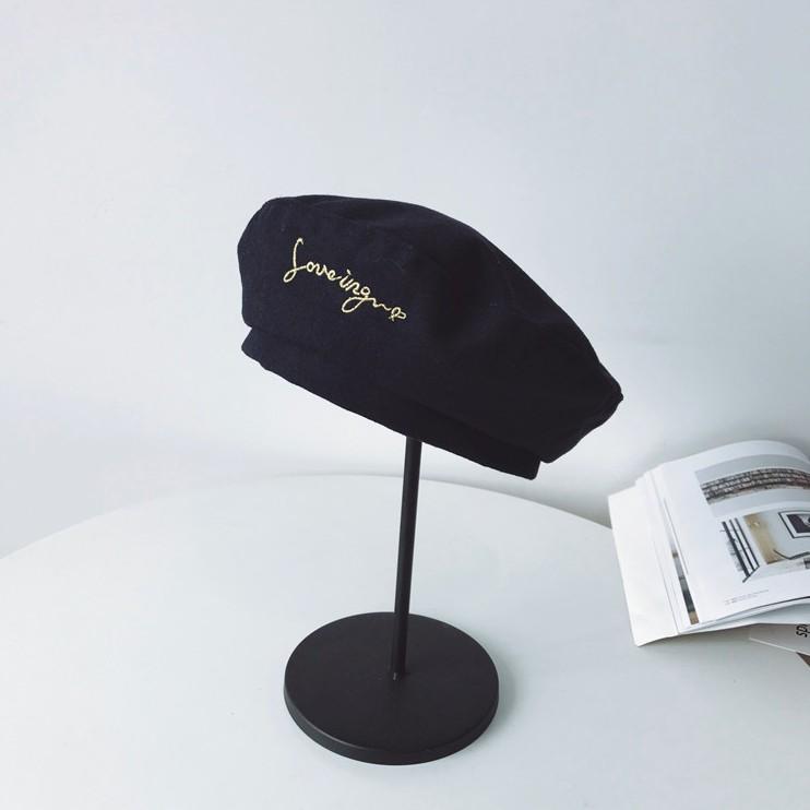 G's 日系日本原宿風格貝蕾帽可愛秋冬帽子配件毛呢畫家帽