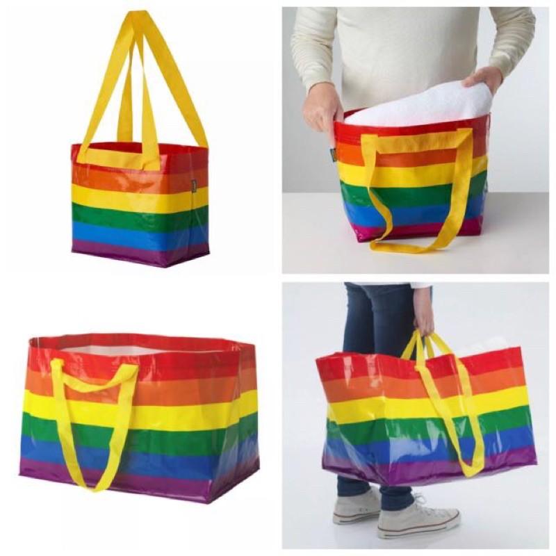 限量版 臺灣🇹🇼正版 IKEA KVANTING 彩虹版🌈購物袋 環保袋
