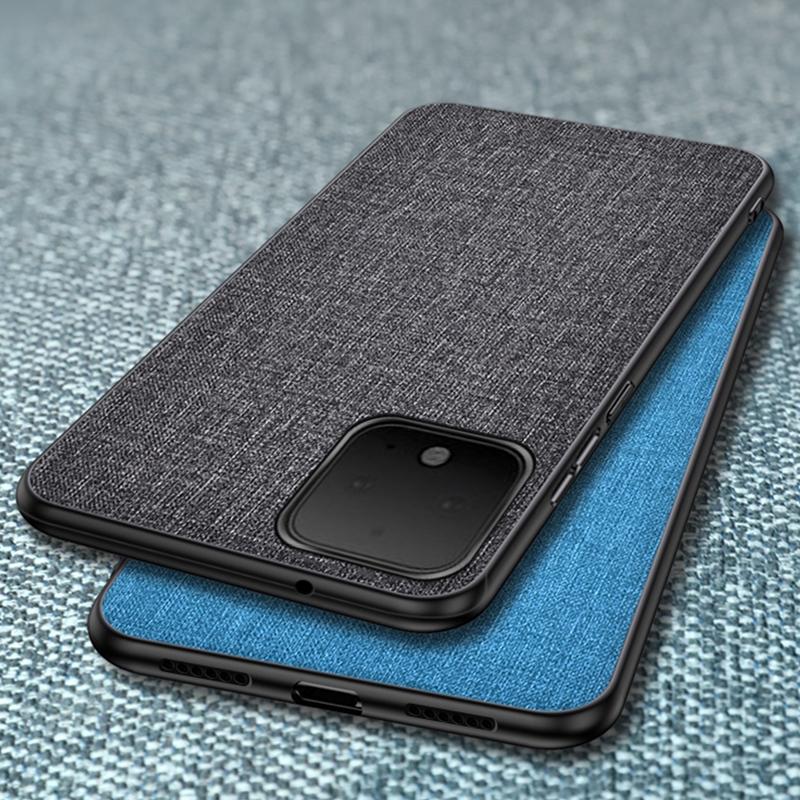 谷歌 Google Pixel 4 XL 4a 3a 3 XL 手機殼 布藝軟殼 防摔 防指紋 防汗 保護殼純色布紋系列