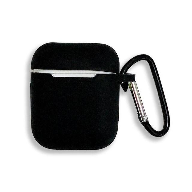 黑色橡膠防撞保護扣airpods保護套柔軟貼蘋果無線藍牙耳機保護殼