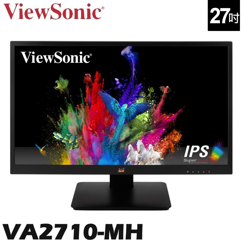 ViewSonic 優派 VA2710-MH 27吋 螢幕 IPS 廣視角 窄邊框 零閃屏 抗藍光 VGA HDMI