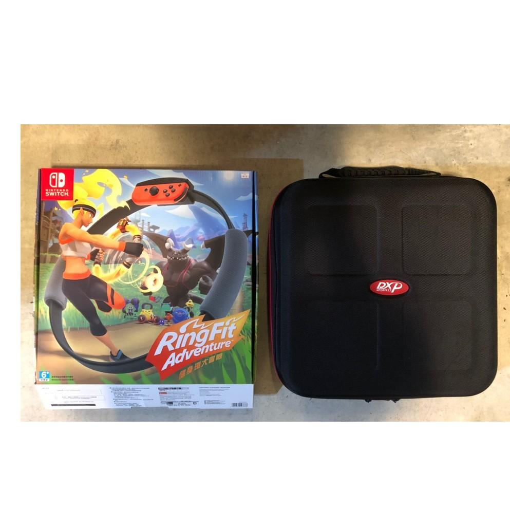 switch健身環大冒險+收納包+超級瑪利歐3D收藏輯合售二手