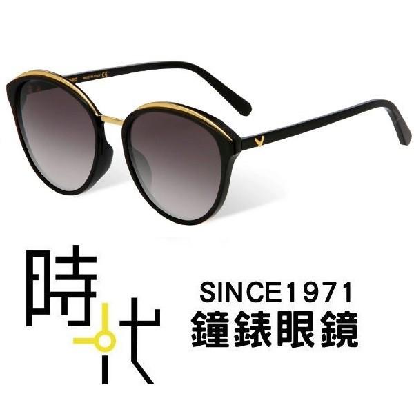 【VEDI VERO】義大利 VE801 BLK 漸層黑 膠框 橢圓框墨鏡太陽眼鏡 59mm 台南 時代眼鏡