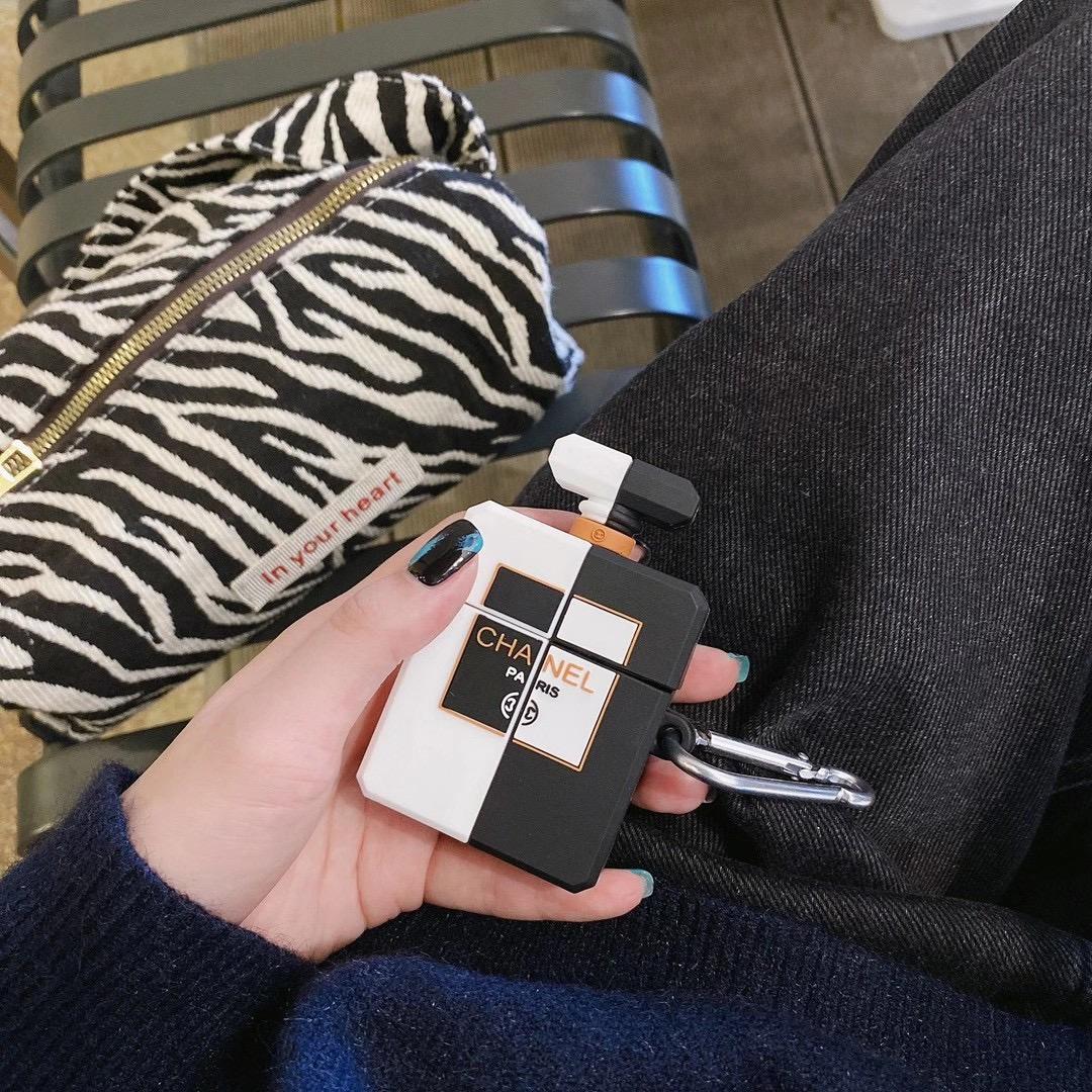 現貨Airpods pro保護套 CHANEL香奈兒 Airpods1/2 創意潮個性原裝硅膠軟殼無線藍牙耳機蘋果防摔套