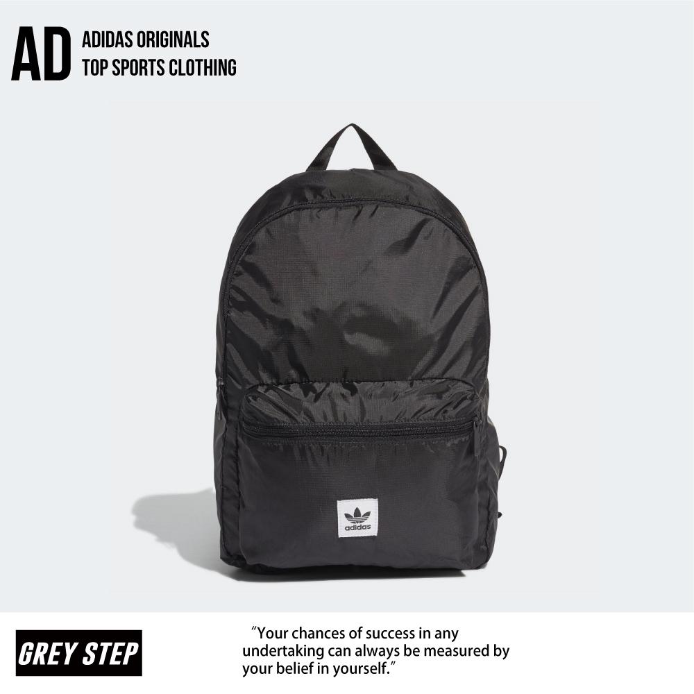 Adidas 愛迪達 三葉草 可收摺 後背包 背包 黑色 ED8013 全新正品 統一發票 快速出貨