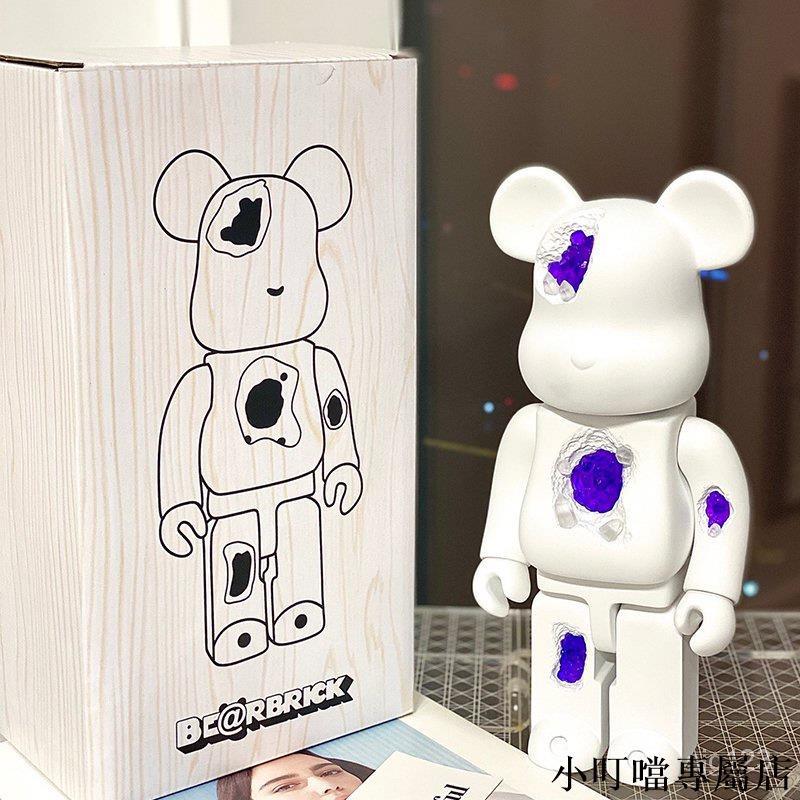 小叮噹*庫柏力克熊 被侵蝕bearbrick400%積木暴力熊水晶熊1000%公仔手辦擺件潮玩禮物