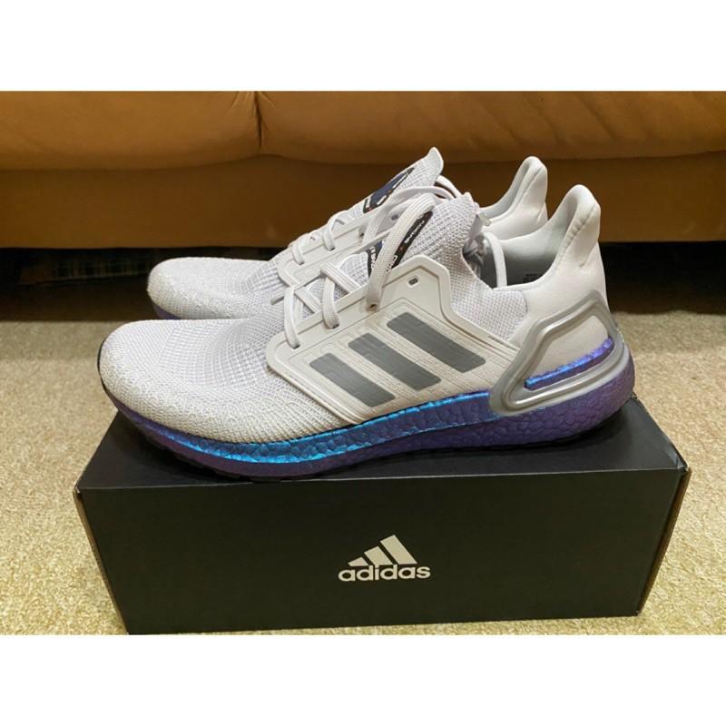 "【安雅】Adidas Ultraboost 20 ""Space Race"" 灰 藍 宇宙 EG0755"