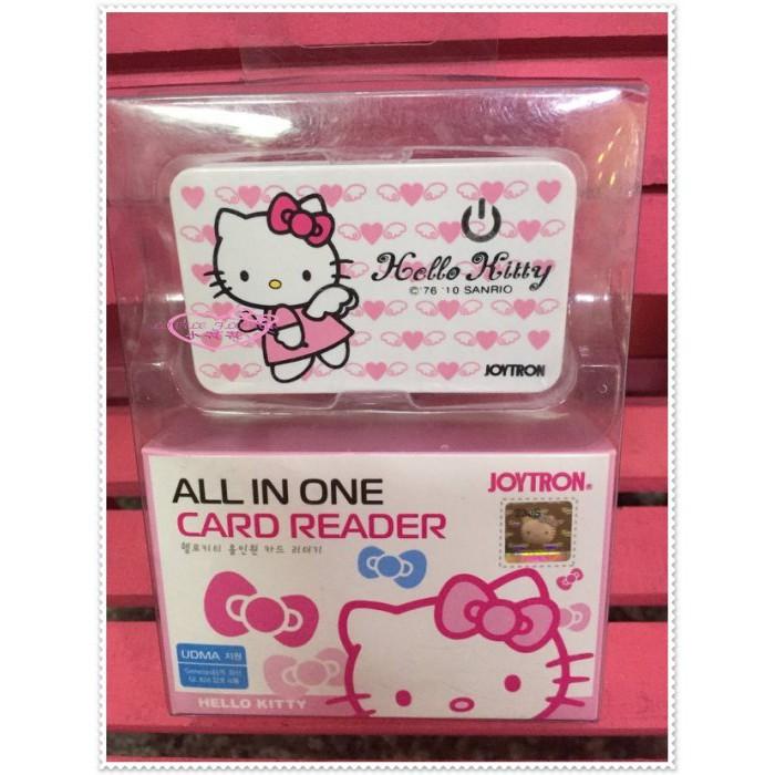 ♥小花花日本精品♥ Hello Kitty 讀卡機 天使21085406
