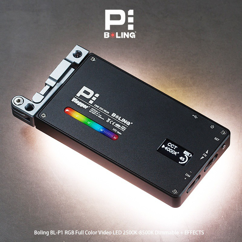 柏靈 Boling BL P1 RGB攝影燈LED便捷口袋相機外拍補光燈