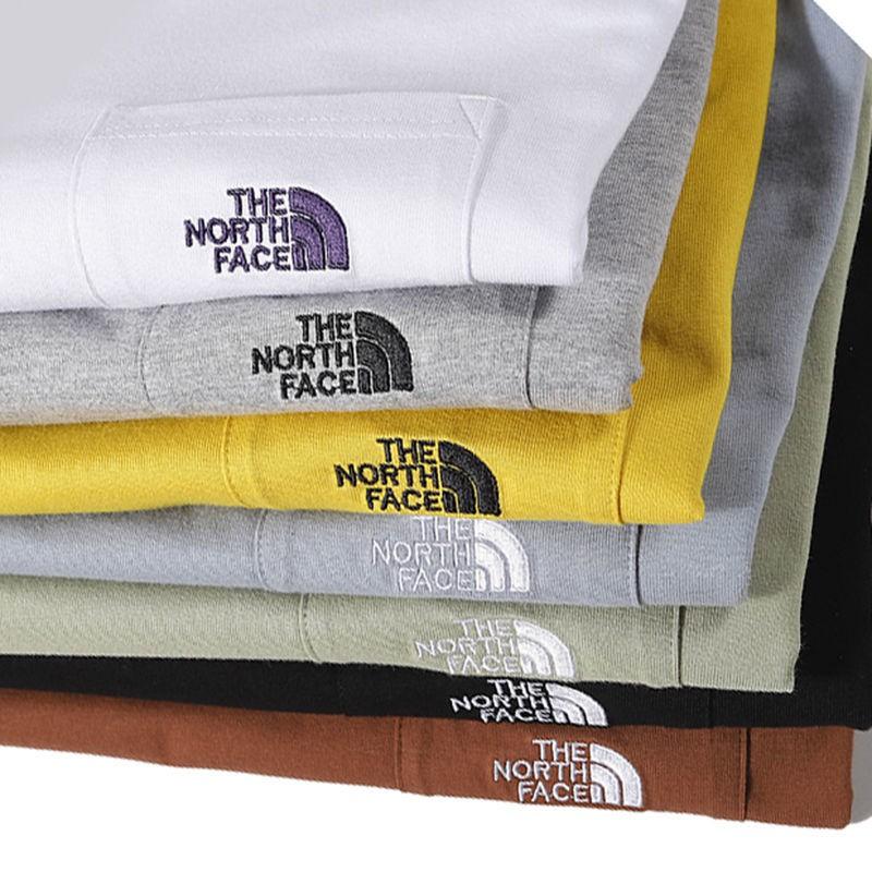 歐美潮牌TNF余文樂街頭NK寬松刺繡口袋陳冠希情侶男女高街短袖T恤