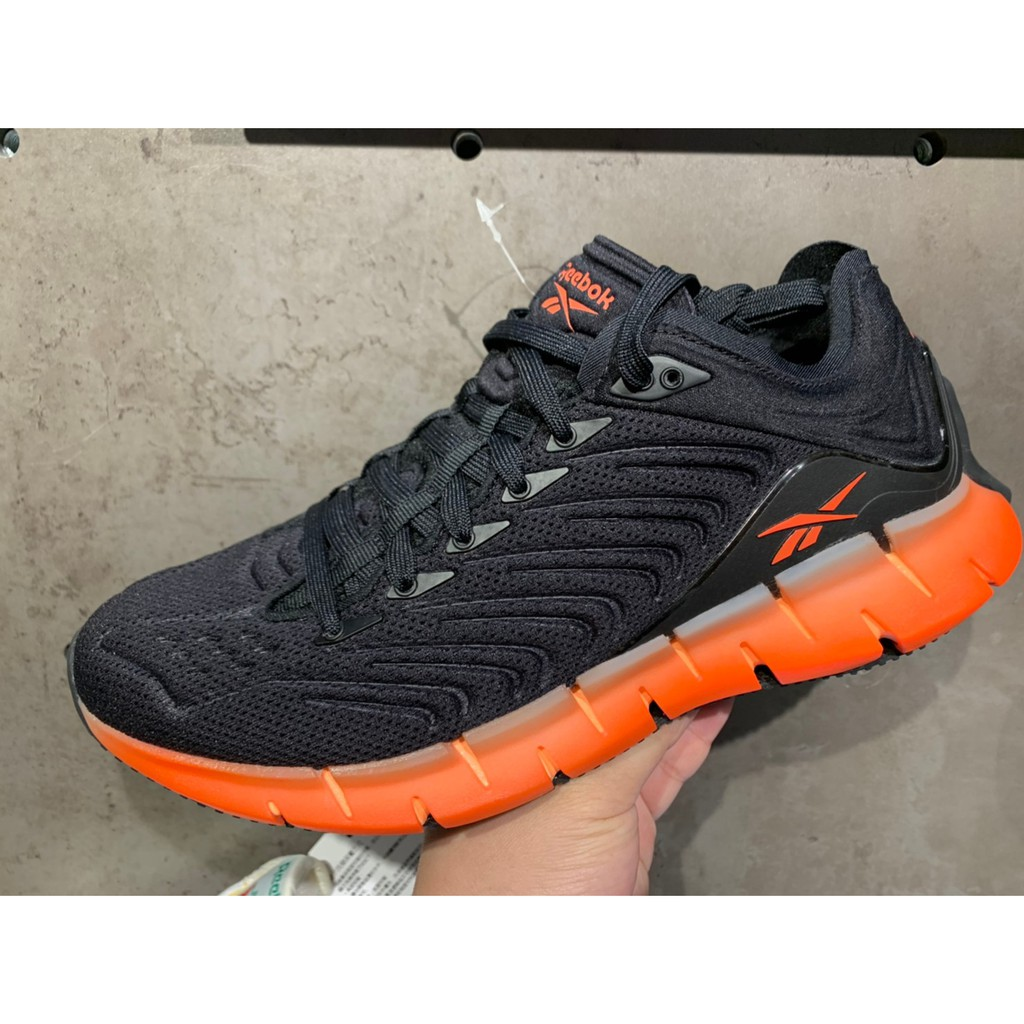 REEBOK 慢跑鞋 Zig Kinetica 運動 男 輕量 透氣 舒適 避震 路跑 健身 黑 EH1724