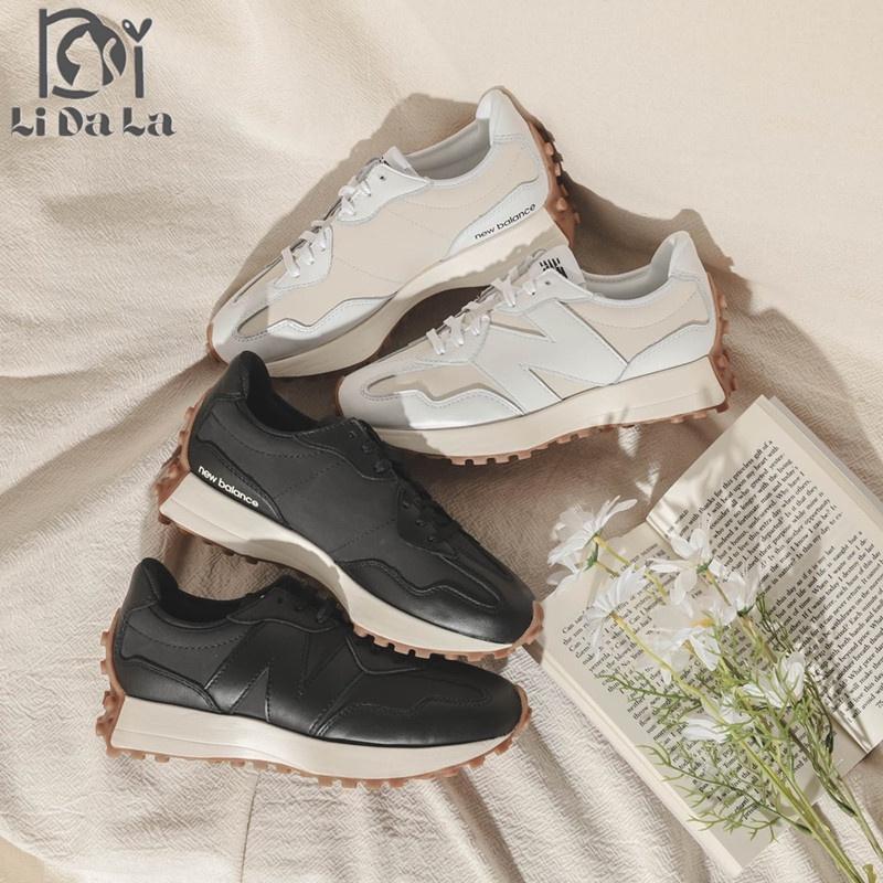 新款 New Balance 327 休閒鞋 皮革 白 白焦糖 WS327LA 黑 WS327LB