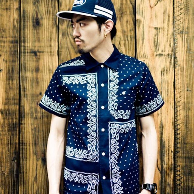 Provider 深藍 襯衫 變形蟲 復古美式
