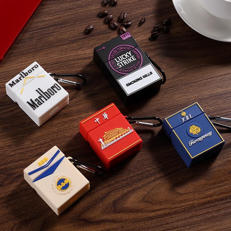 適用Airpods保護套2代中華創意煙盒子蘋果無線藍牙耳機硅膠軟殼潮