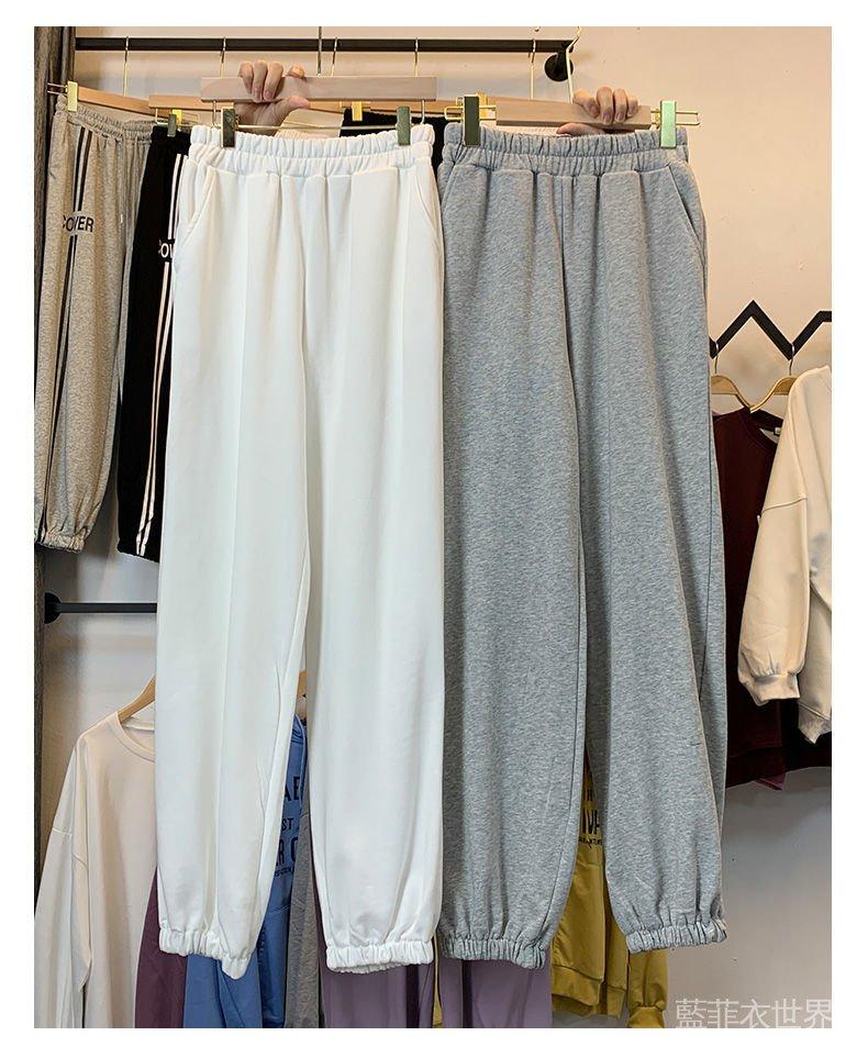 休閒褲衛褲女女褲棉褲寬鬆運動褲褲子顯瘦外穿