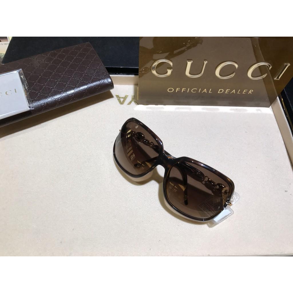 【精品代購】GUCCI GG3584時尚奢華風鑲鑽鏤空方框太陽眼鏡*免運