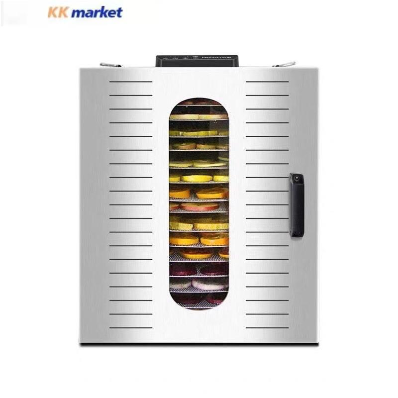 Uck加大16層溫控不銹鋼食物乾燥機 乾果機 烘乾機 烘焙機烘肉乾機烘花茶機蔬菜水果脫水機 110v
