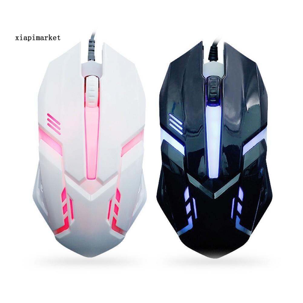 Xp 電競滑鼠 遊戲必備 1200dpi Usb 呼吸燈 有線光學滑鼠 適用 Pc 筆電