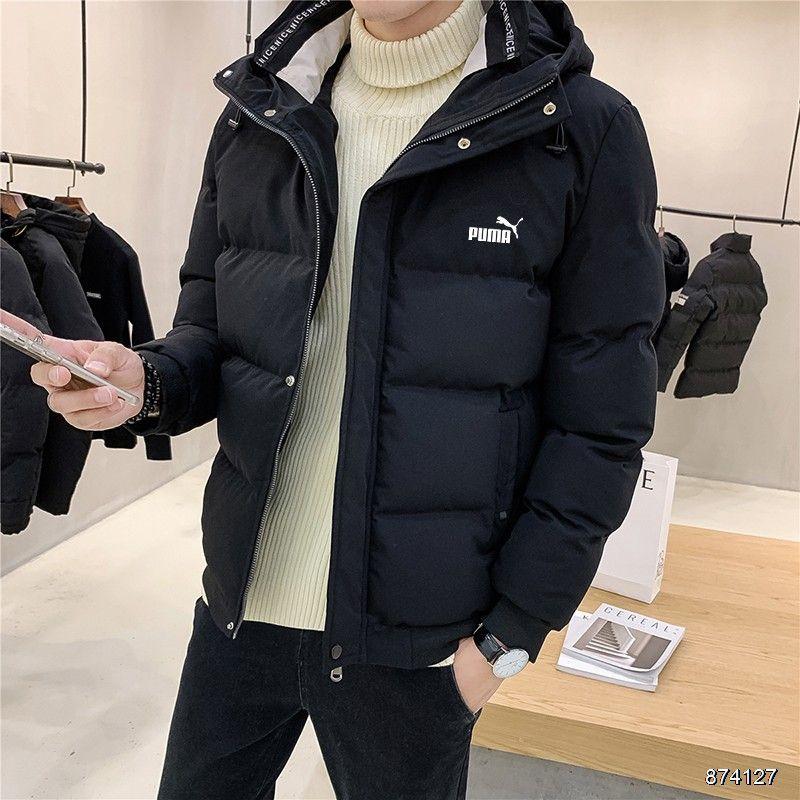 冬季PUMA彪馬男生連帽外套保暖加厚棉服抗寒外套冬季棉襖 大碼