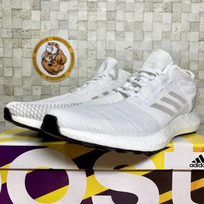 現貨 Adidas Pureboost Go 白 編織 輕量 透氣 機能 慢跑 彭于晏 男女運動鞋