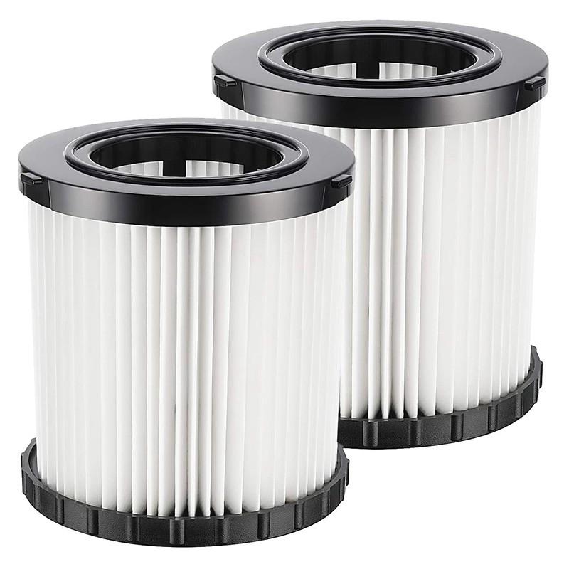 2件吸塵器Hepa替換濾芯,用於DeWalt DCV580和DCV581H濕式和乾式吸塵器