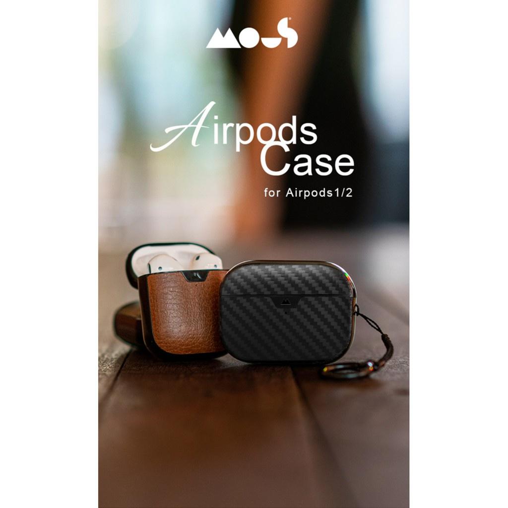 尓嵐商鋪.英國Mous Apple AirPods Pro 1 2代 防摔 保護殼 真皮 支援無線充電 公司貨 原廠