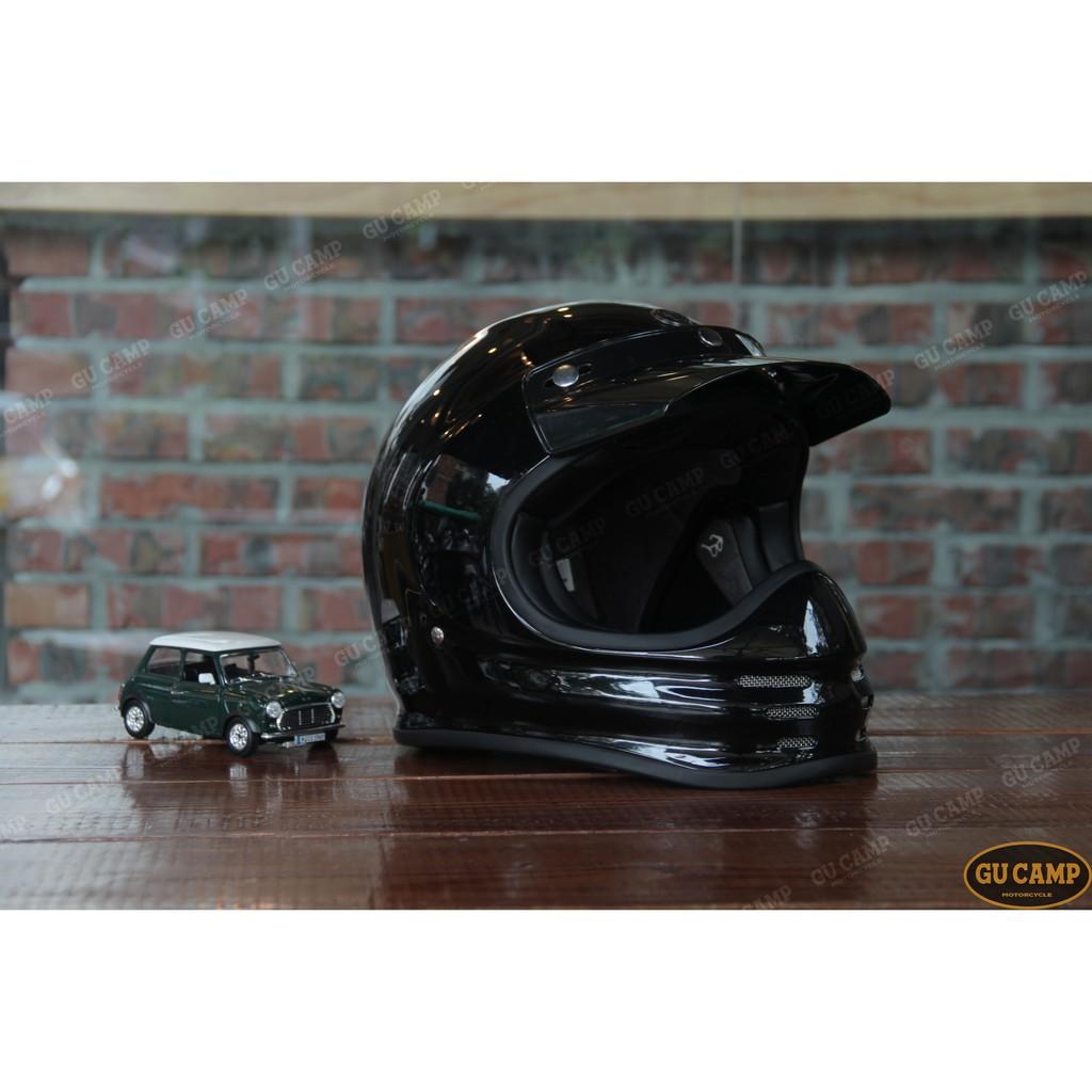 P&JxGU CAMP  美國 TORC T-3 山車帽 復古 全罩安全帽 全罩式安全帽 (亮光黑)
