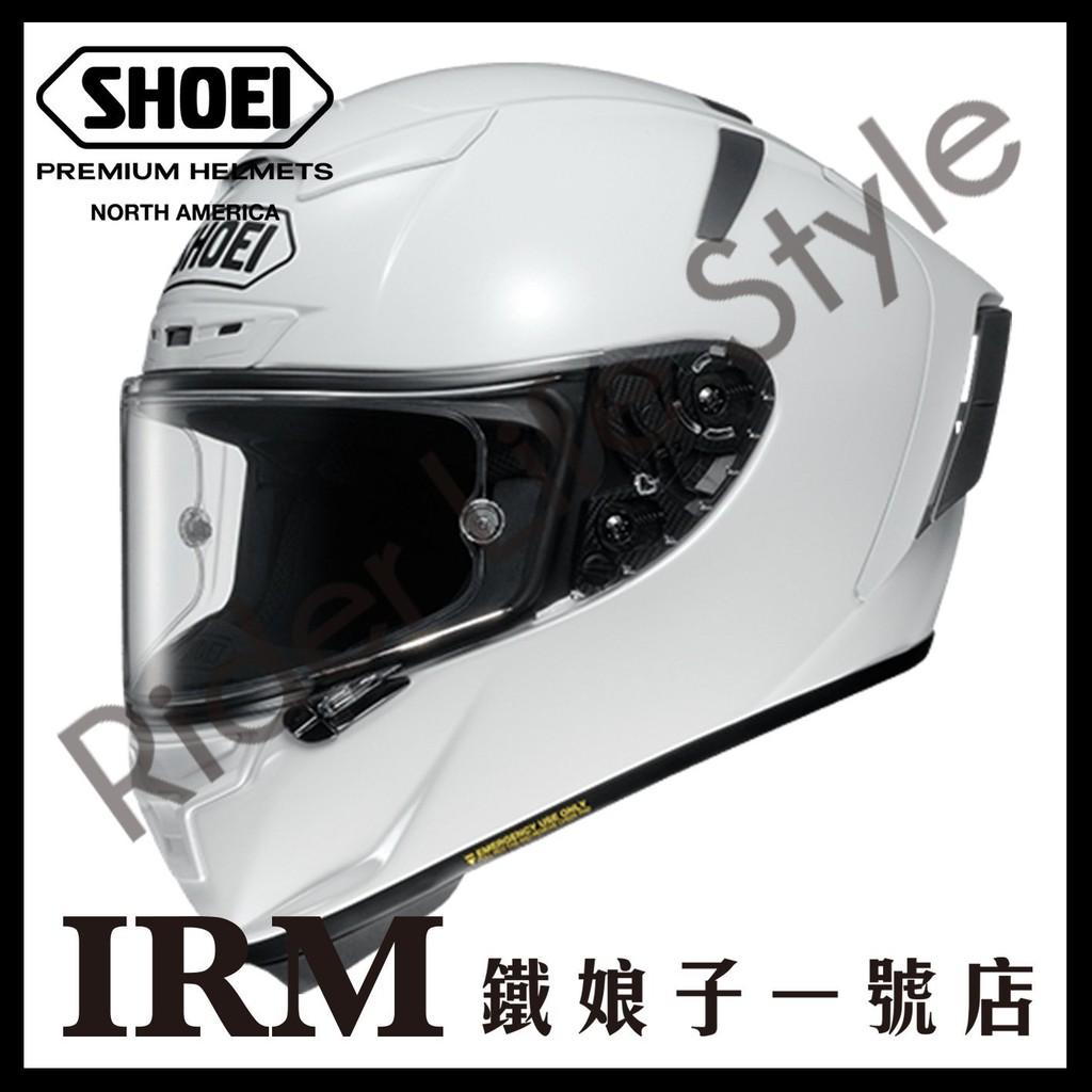 【鐵娘子一號店】日本 SHOEI X-14 全罩 安全帽 限量 X-Spirit X14 賽道。素亮白